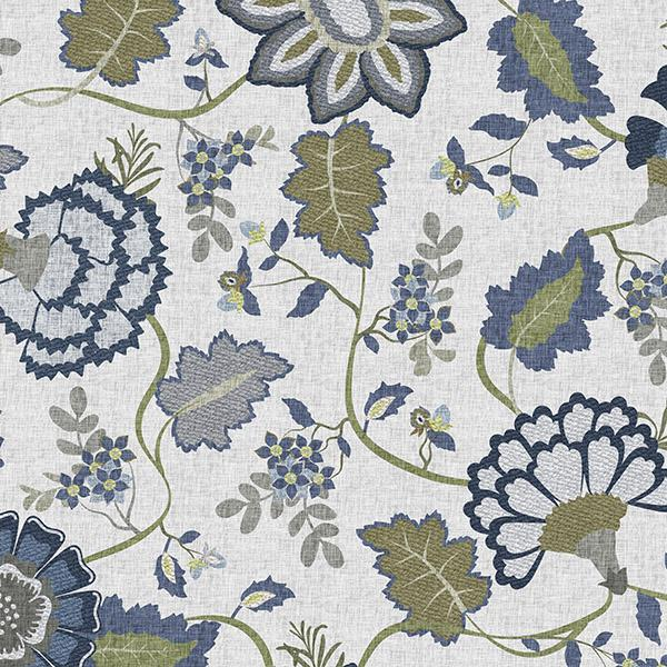 Floral Tapestry Printed Vinyl Flooring Design Pool - GIF Blue