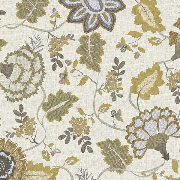 Floral Tapestry Printed Vinyl Flooring Design Pool - GIF Gold