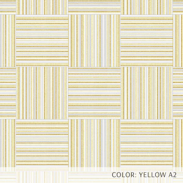 Textured Plaid Printed Vinyl Flooring Design Pool - GIF Gold