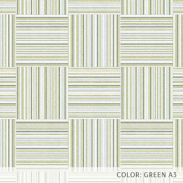 Textured Plaid Printed Vinyl Flooring Design Pool - GIF Green