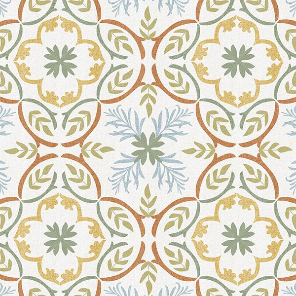 Lisbon Tile Printed Vinyl Flooring Design Pool - GIF Orange