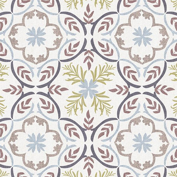 Lisbon Tile Printed Vinyl Flooring Design Pool - GIF Purple