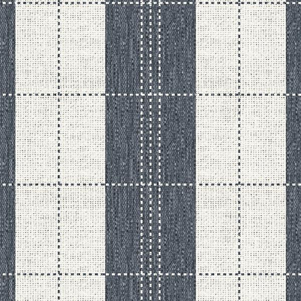 Stripe Stitched Plaid Printed Vinyl Flooring Design Pool - GIF Blue