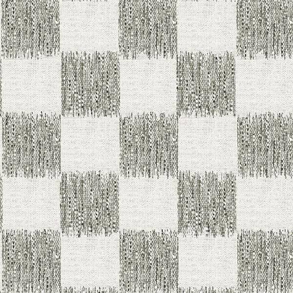 Ikat Check Printed Vinyl Flooring Design Pool - GIF Taupe