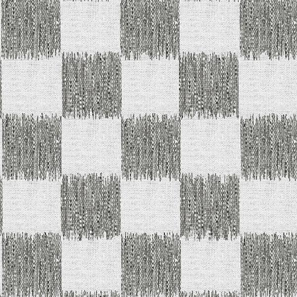 Ikat Check Printed Vinyl Flooring Design Pool - GIF Gray