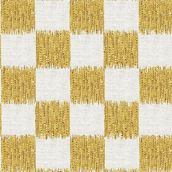 Ikat Check Printed Vinyl Flooring Design Pool - GIF Yellow