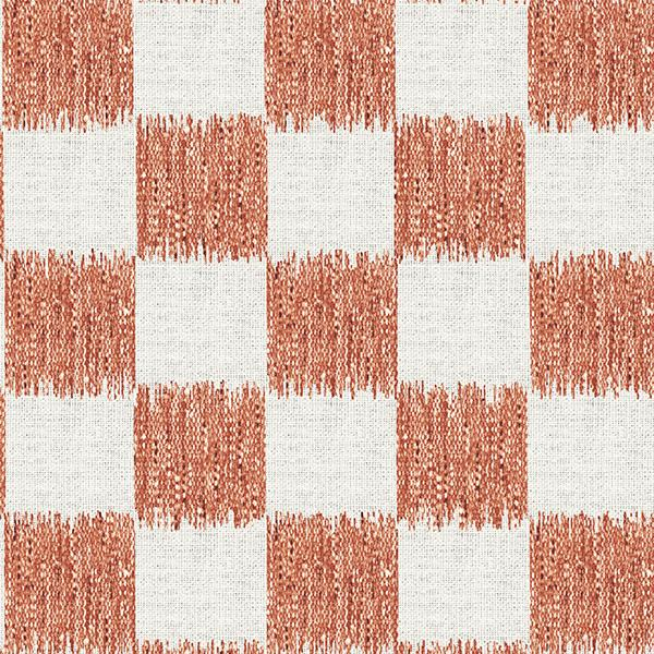 Ikat Check Printed Vinyl Flooring Design Pool - GIF Coral