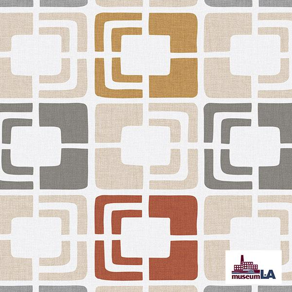 Retro Rectangles Museum LA Printed Vinyl Flooring Design Pool - GIF Gray