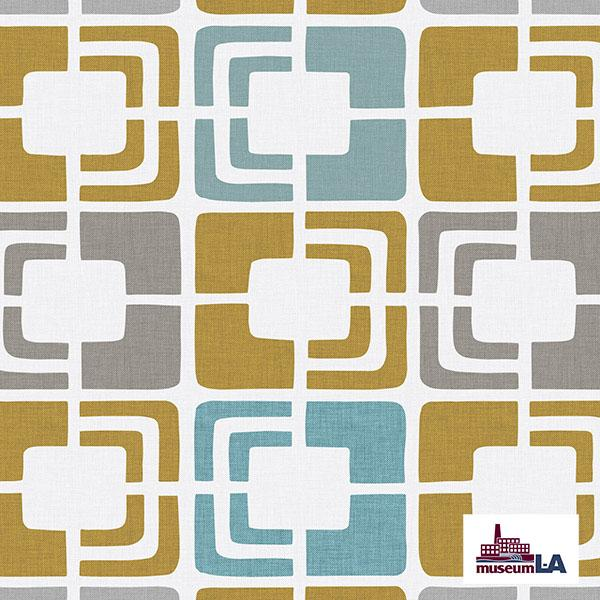 Retro Rectangles Museum LA Printed Vinyl Flooring Design Pool - GIF Yellow