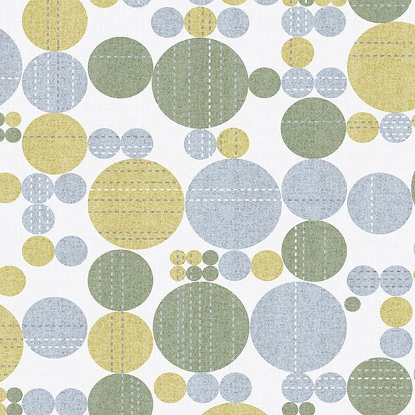 Stitched Circles Printed Vinyl Flooring Design Pool - GIF