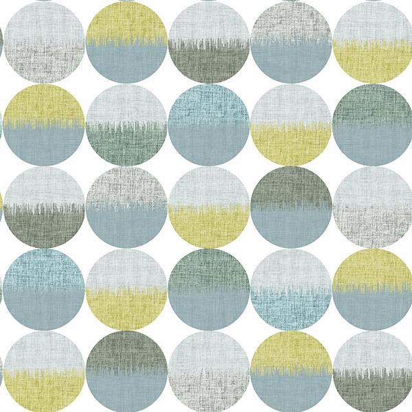 Ikat Circles Printed Vinyl Flooring Design Pool - GIF