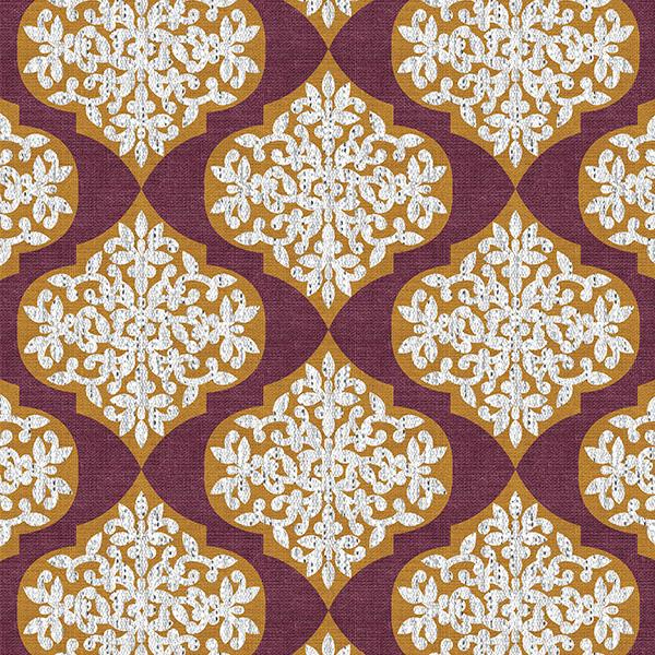 Lace Ogee Printed Vinyl Flooring Design Pool - GIF Red