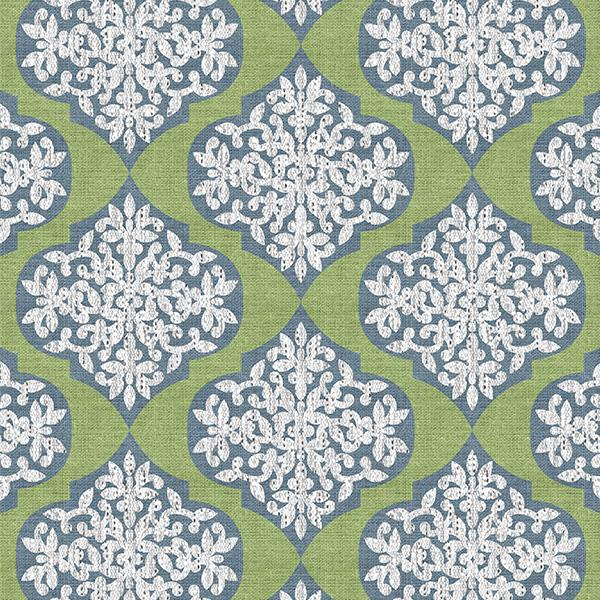 Lace Ogee Printed Vinyl Flooring Design Pool - GIF Green