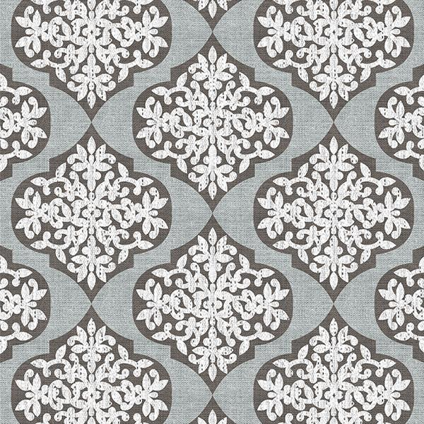 Lace Ogee Printed Vinyl Flooring Design Pool - GIF Gray