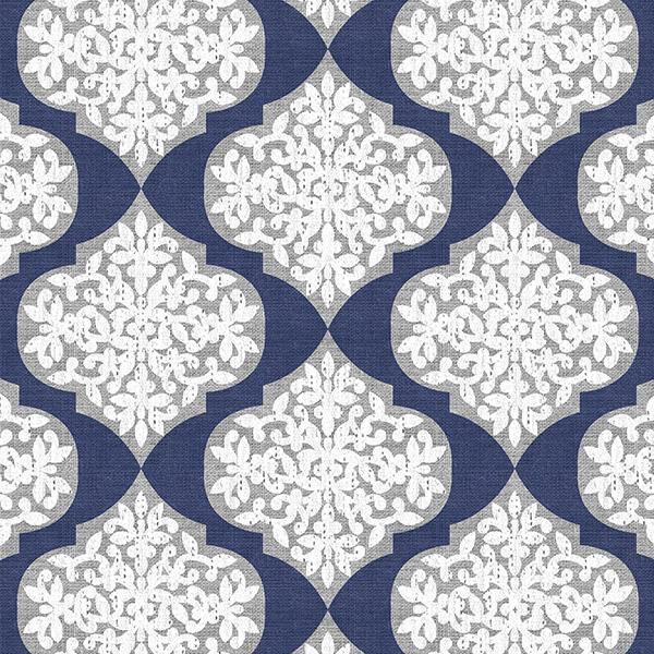Lace Ogee Printed Vinyl Flooring Design Pool - GIF Blue