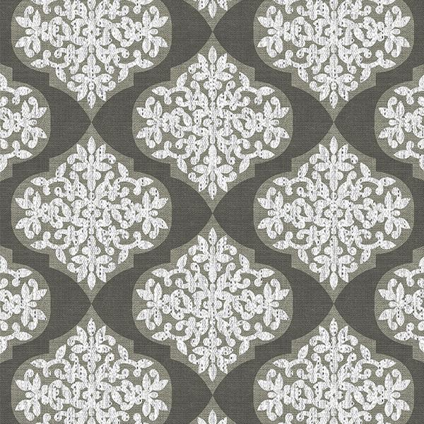 Lace Ogee Printed Vinyl Flooring Design Pool - GIF Brown
