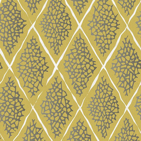 Coral Reef Diamond Printed Vinyl Flooring Design Pool - GIF Yellow
