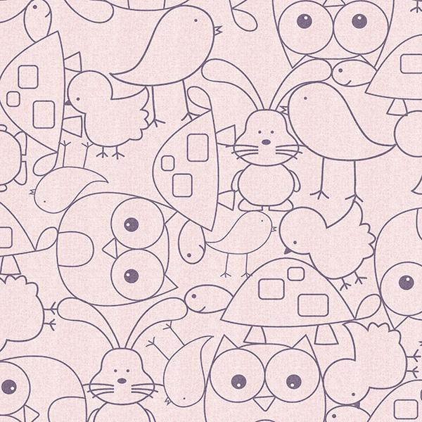Cute Critters Printed Vinyl Flooring Design Pool - GIF
