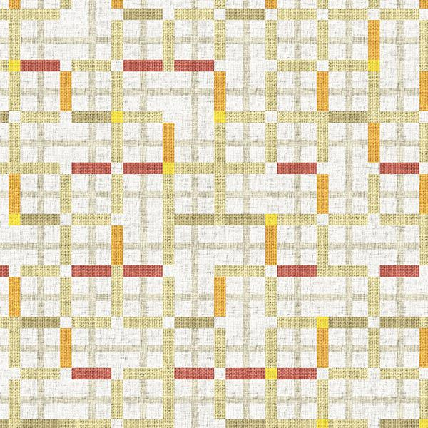 Modern Tartan Printed Vinyl Flooring Design Pool - GIF Yellow