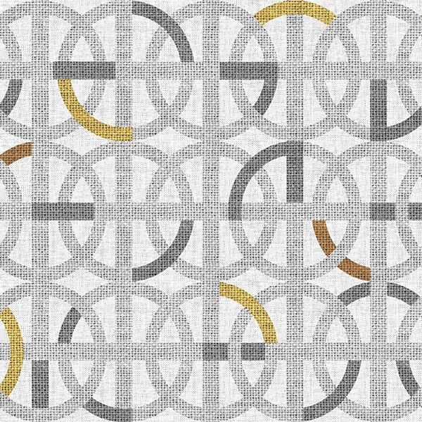 Greek Interlace Printed Vinyl Flooring Design Pool - GIF Gray