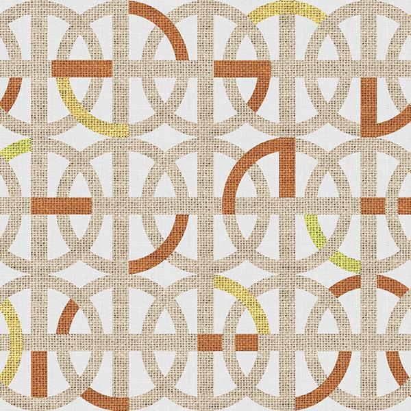 Greek Interlace Printed Vinyl Flooring Design Pool - GIF Orange
