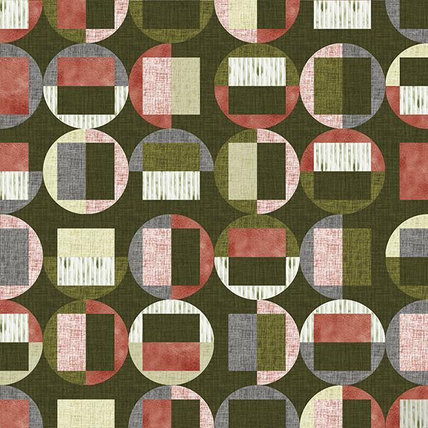 Circle Gets the Square Printed Vinyl Flooring Design Pool - GIF Pink