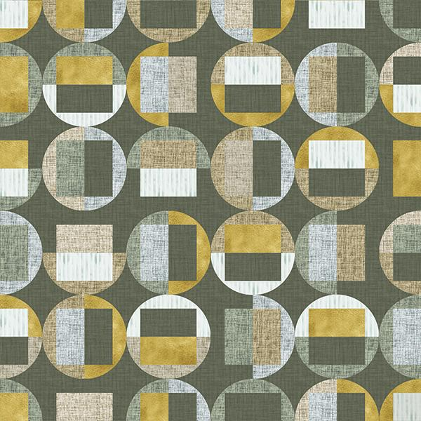 Circle Gets the Square Printed Vinyl Flooring Design Pool - GIF Green