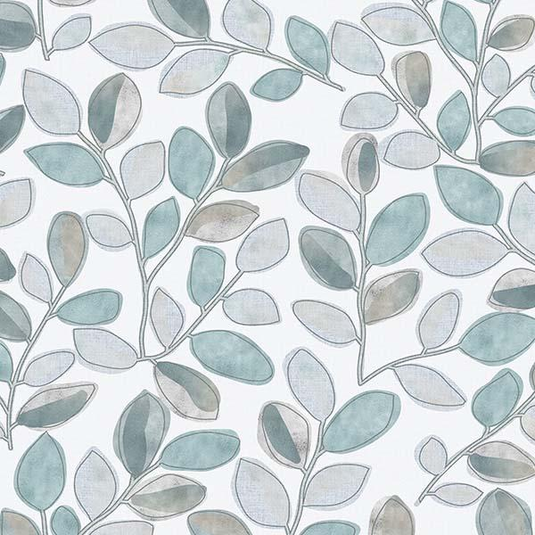 Cherry Plum Leaves Printed Vinyl Flooring Design Pool - GIF Aqua