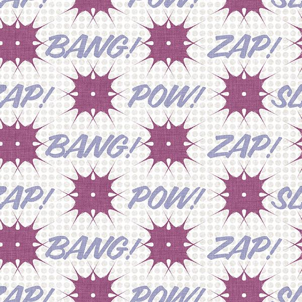 Comic Book Printed Vinyl Flooring Design Pool - GIF Purple