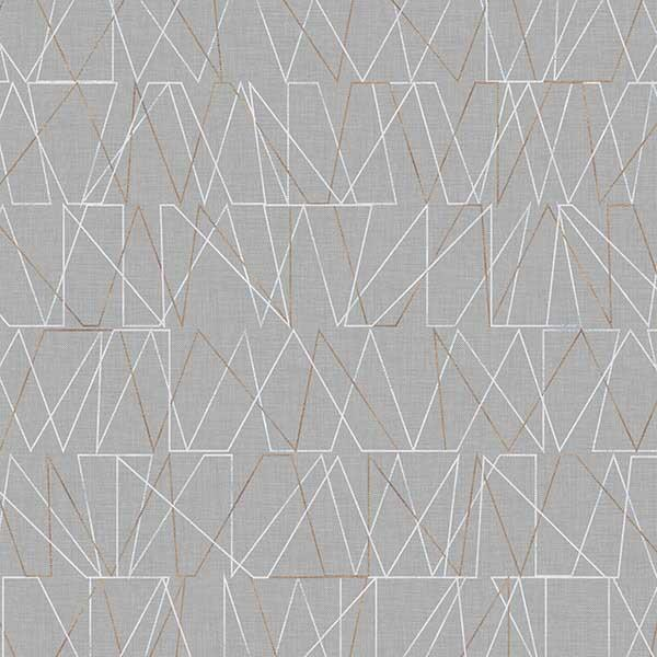 Connect the Points Printed Vinyl Flooring Design Pool - GIF Gray