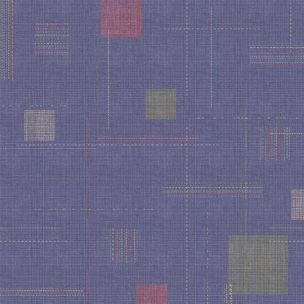 Block Party Stitched Printed Vinyl Flooring Design Pool - GIF Purple