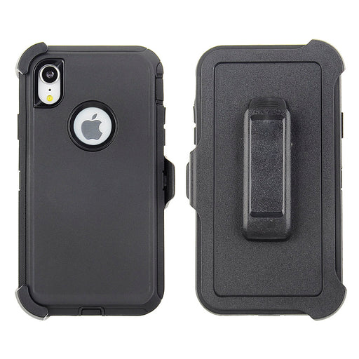 Full Protection Case for iPhone XR - Tough Protective Case with Holster Clip