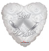45cm Best Wishes Bells Foil Balloon
