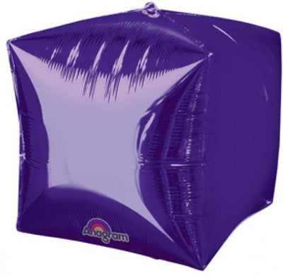 Cubez Ultrashape Shaped Balloon 38cm x 38cm Purple