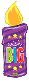 104cm Mighty Bright Birthday Candle Foil Balloon