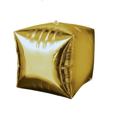 Cubez Ultrashape Shaped Balloon 38cm x 38cm Gold