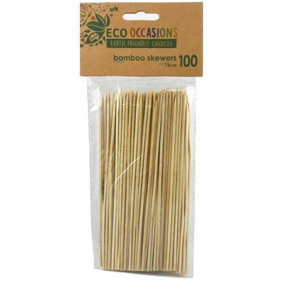 12 by Pack of 100 Bamboo Skewers (2.5 x 150mm)