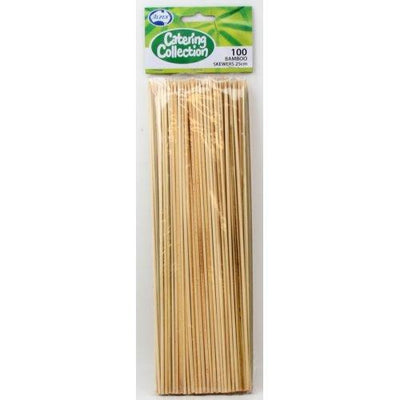 12 by Pack of 100 Bamboo Skewers (2.5 x 25cm)