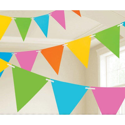 Multi Coloured Paper Pennant Banner