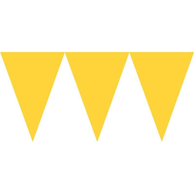 Sunshine Yellow Paper Pennant Banner