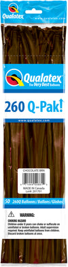 260Q Fashion Latex Modelling Balloon 50pcs Chocolate Brown