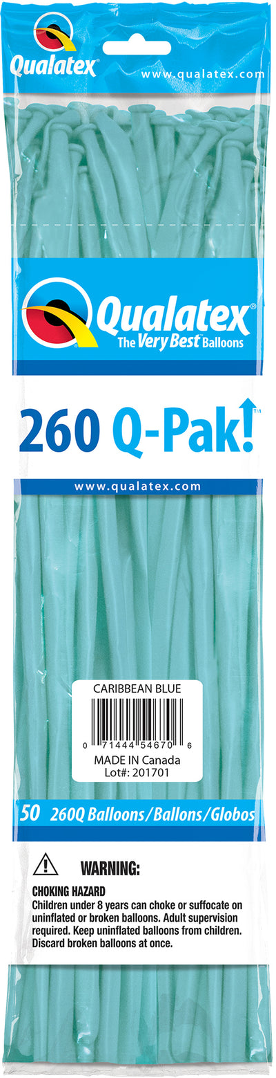 260Q Fashion Latex Modelling Balloon 50pcs Caribbean Blue