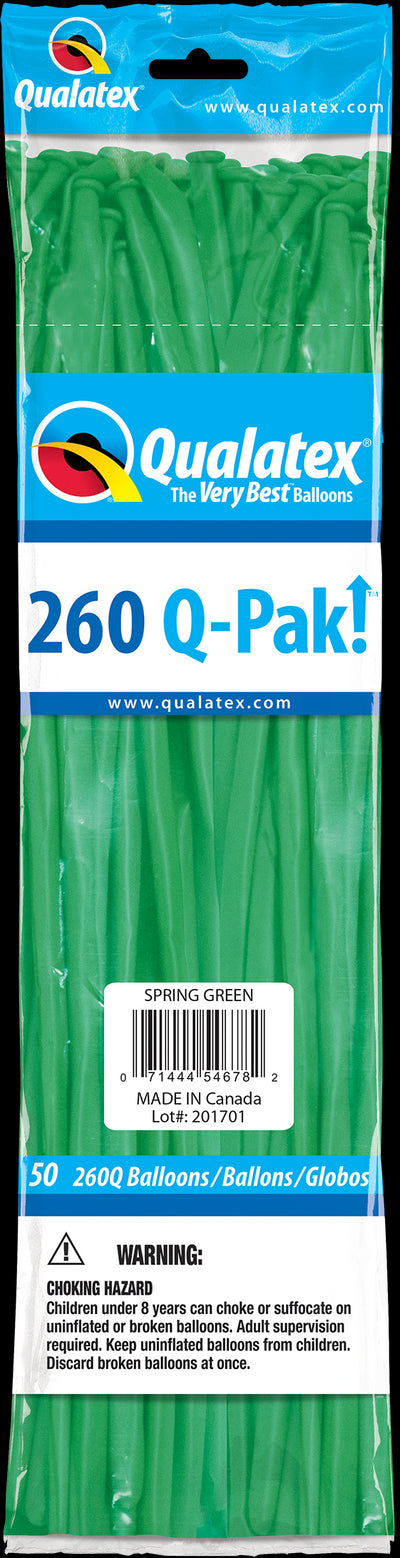 260Q Fashion Latex Modelling Balloon 50pcs Spring Green