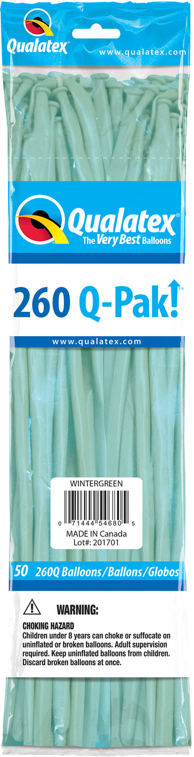 260Q Fashion Latex Modelling Balloon 50pcs Tropical Teal