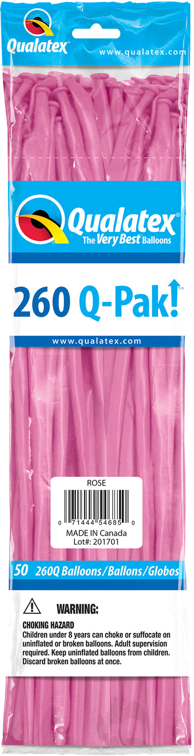260Q Fashion Latex Modelling Balloon 50pcs Spring Lilac