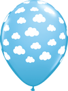 28cm Pale Blue Clouds Latex Balloon Pack of 25