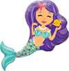 96cm Enchanting Mermaid SWs Foil Balloon