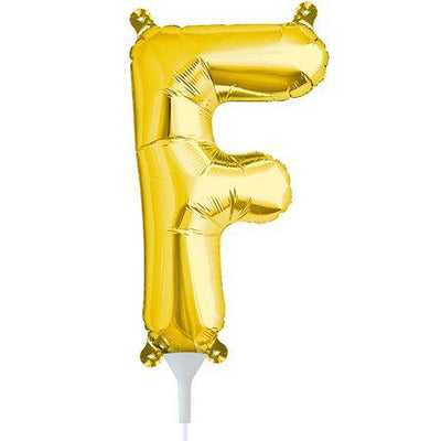 41cm Air Fill Letter F Foil Balloon Gold