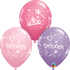 28cm Princess Pink Lilac 4 Side Print Latex Balloon Pack of 25