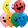 28cm Smiley Faces Standard Assorted Latex Balloon Pack of 25